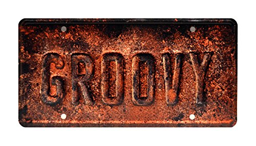 sh William's Oldsmobile | GROOVY | Metal Stamped Vanity Prop License Plate (Groovy Gift)