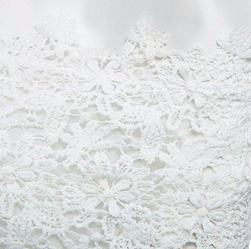 Nue Blouse Hauts Femme Dentelle Chemise Manche Shirt Gladiolus Courte Blanc Epaules Top Crochet 4RWI14wq