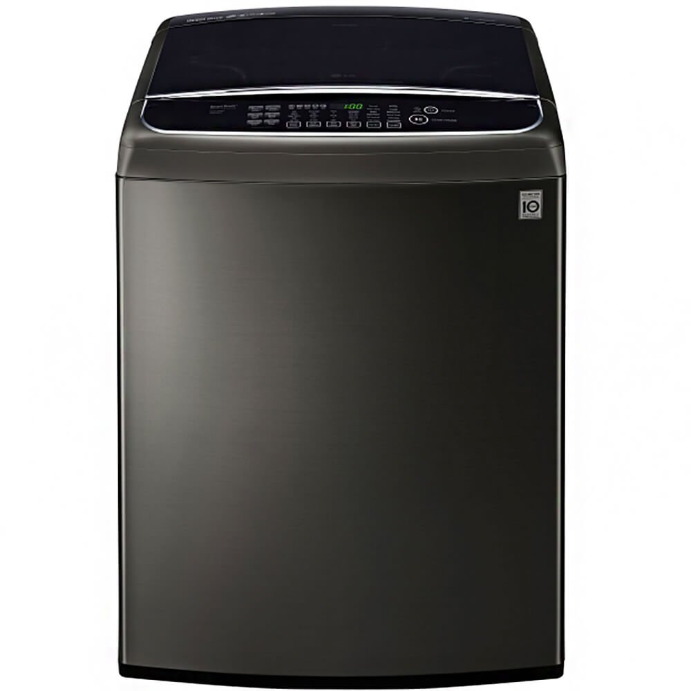 Black Stainless High Efficiency Top Load Washer Ft LG WT1901CK 5.0 Cu