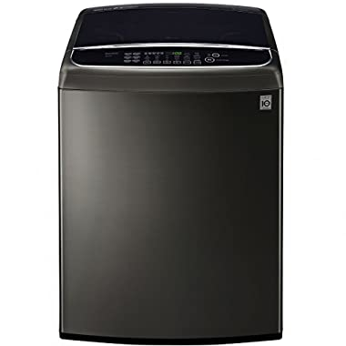LG WT1901CK 5.0 Cu. Ft. Black Stainless High Efficiency Top Load Washer