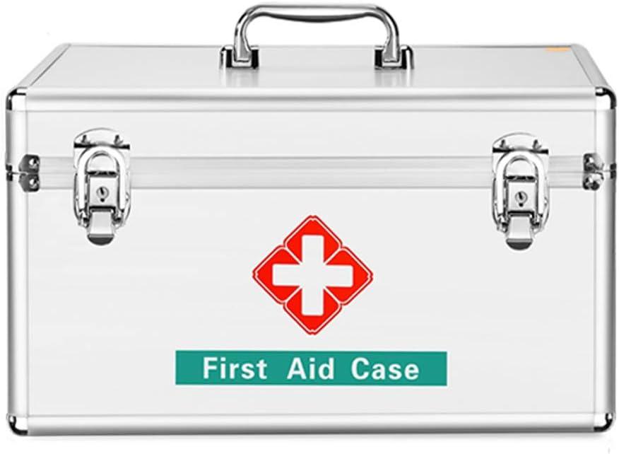 TLMYDD 薬箱家庭用大型薬箱救急箱セットフル収納医療用箱家庭用薬箱 応急処置キット (Size : L)  Large