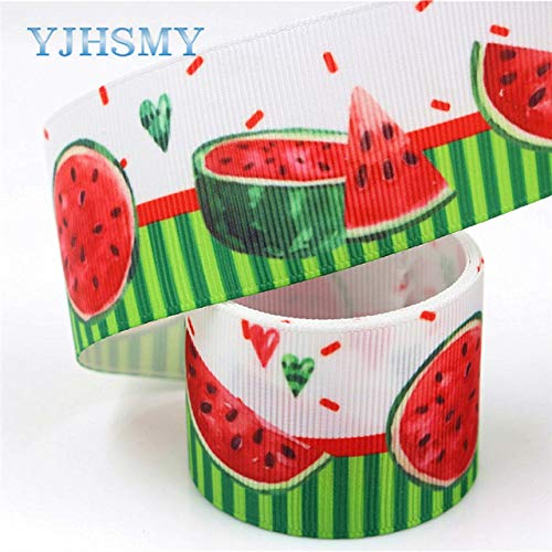 Jammas I-19320-641,38mm 5yards Fruit Thermal Transfer Printed Grosgrain Ribbons,Bow Cap DIY Handmade Accessories Decorations - (Color: I-19320-643)