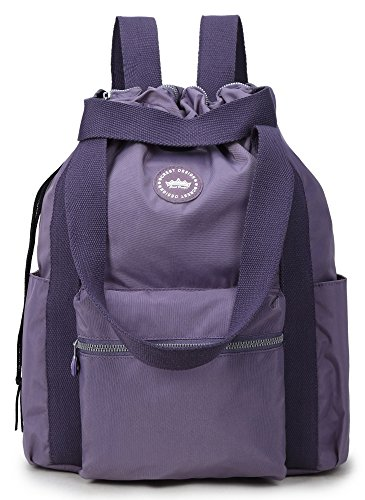- Crest Design Water Repellent Convertible Multipurpose Backpack (Large, Orchid)
