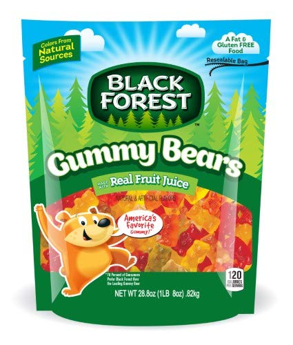 Black Forest, Gummy Bears Candy, Fruit (Pack of 14)