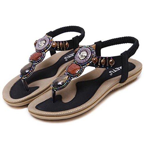 Nero alla 2 caviglia Cinturino Donna SUNAVY qPpwI8n
