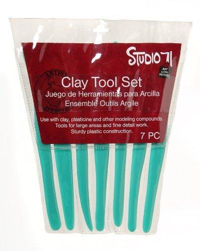 Darice Plastic Clay Tool 7 Piece Set (3-Pack)