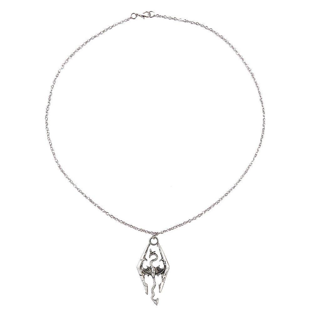 Dinosaur Dragon Pendant Necklace Skyrim Elder Scrolls Dragon Pendants Vintage Necklace for Men//Women Jewelry JBP-X