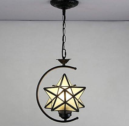 Amazon.com: THE BEST Ceiling Pendant Light Color Glass Lamp ...