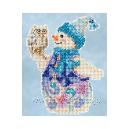 Jim Shore Snowy Owl Snowman Counted Cross Stitch Kit-5x5 18 Count (Jim Stitch Shore Cross)