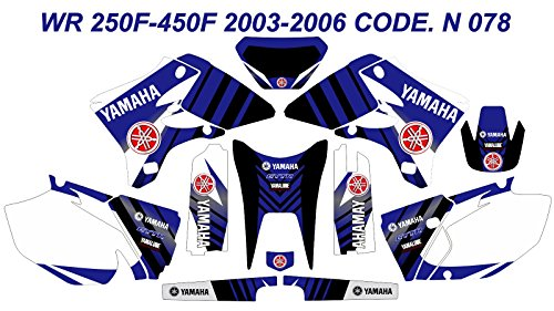 DOG RACING DESIGN N 078 YAMAHA WR 250F-450F 2003-2006 GRAPHIC KIT