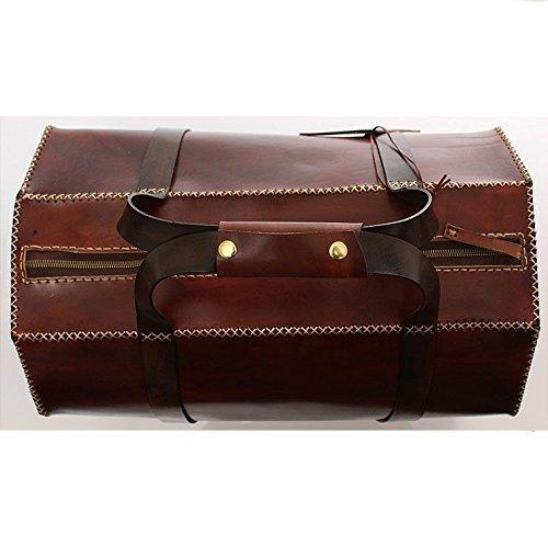 Brown Leather Handmade Retro Duffel Bag
