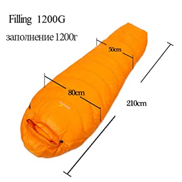LOLIVEVE Goose Down Saco De Dormir Mummy Ultralight Hike Outdoor Mountaineering Camping Sleep Camping: Amazon.es: Deportes y aire libre