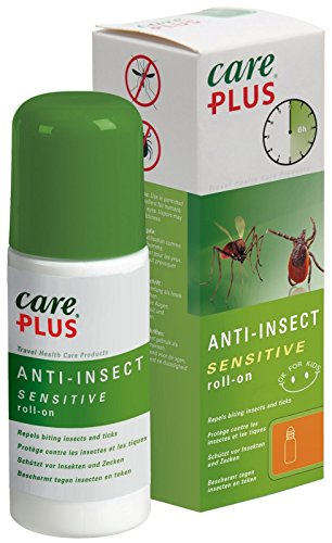 Care Plus 32452 Anti-Insect Sensitive 20% Saltidin Roll-on (50ml) - Tough on Mosquitoes and Other Insects as DEET, Much More Gentle on The Skin