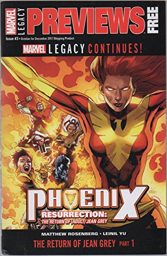 Resurrection Part (Marvel Previews, no. 3 (October-December 2017) (promotional comic) (Marvel Legacy Continues! Phoenix Resurrection: The Return of (Adult) Jean Grey, Part 1; Thing & Human Torch))