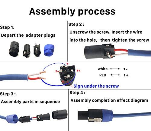 Devinal SpeakOn Speaker Male Adapter 4 Pole Plug Twist Lock ... on