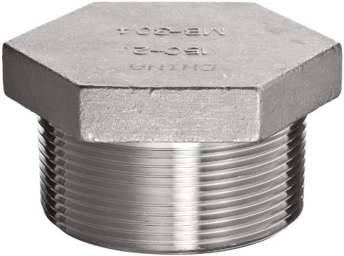 Stainless Steel 304 Cast Pipe Fitting, Hex Head Plug, Class 150, 2