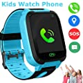 Kids Smart Watch Phone, Children GPS Tracker Safety SmartWatch 3-12 Year Old Girls Boys Toys Gift SOS Call Pedometer Camera Touch Screen Game Bracelet