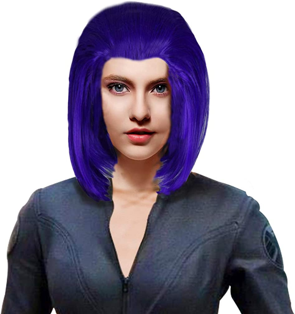 Raven Wig Cosplay Blue Short Hair Costume Accessories Props Halloween Coslive Amazon Ca Clothing Accessories