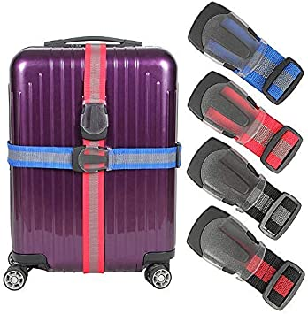 Adjustable Length Travel Accessories Bag Straps With 3-Dial Lock Car Bus Extra Long Adjustable Length Suitcase Straps Suitcase Belts For Business Trip