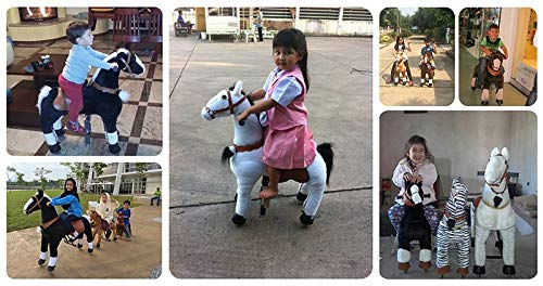 Unicorn, Medium Happy Island Cute Little Pony Foal Giddy Up Ride On Horse Walking Simulated No Battery No Electricity Mechanical Horse Large