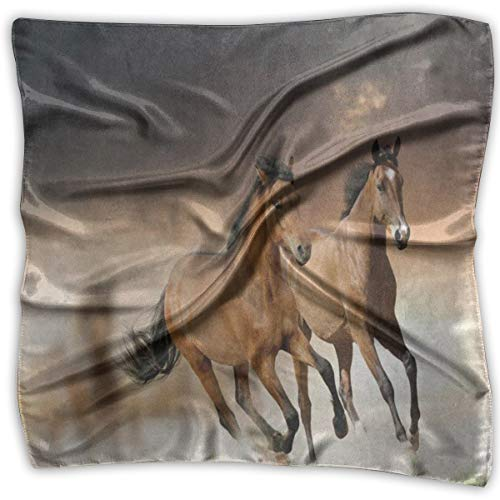 (Square Scarf Brown Horse In Sunset Headband Unisex Scarves Tie For Men)