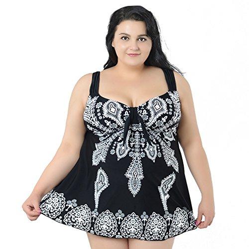 forma con con a reggiseno Costume Nero di floreale stampa floreale da bagno imbottito stampa in Moresave fzwHx7fY