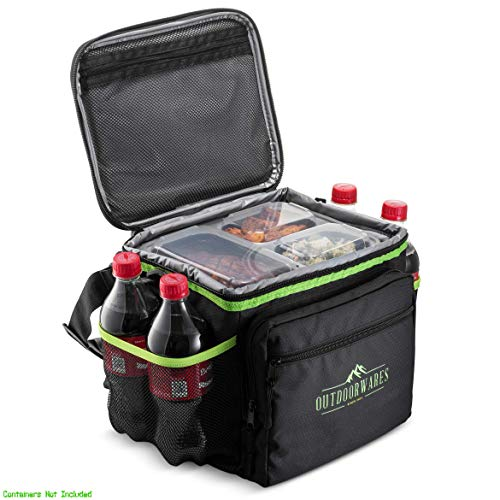 (Cooler Bag By Outdoorwares: Large Capacity Bag-Durable Insulated Tote To Keep Foods And Drinks In The Right Temperature-Good for Travel, Picnic, Beach Hiking, Camping)