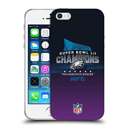 Official NFL Philadelphia Eagles 4 2018 Super Bowl LII Champions Soft Gel Case for Apple iPhone 5 iPhone 5s iPhone SE