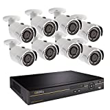 Q-See Surveillance System QC968-8DX-2, 8-Channel HD Analog DVR with 2TB Hard Drive, 8-4MP Security Cameras
