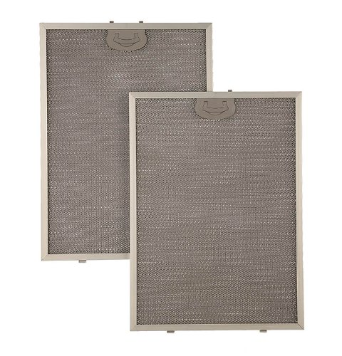 Broan BPPFA30 Grease Antimicrobial Replacement Filter for QP130, Aluminum, 2-Pack
