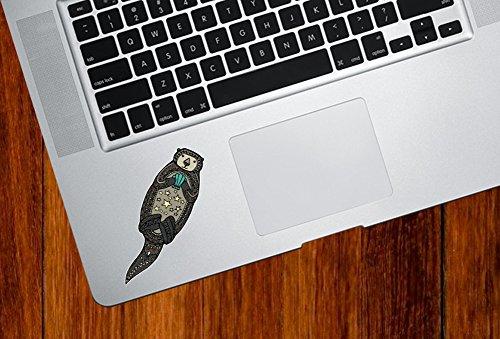 Yadda-Yadda Design Co. Otter - Patterned Sea Otter - Vinyl Laptop Trackpad Tablet Decal - Copyright2016 (Size Variations) (SM 1