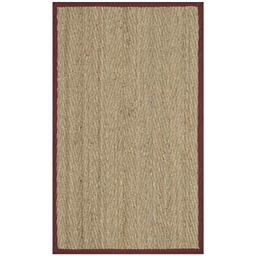 Safavieh Natural Fiber Oceana Natural/Red Seagrass Rug - 2