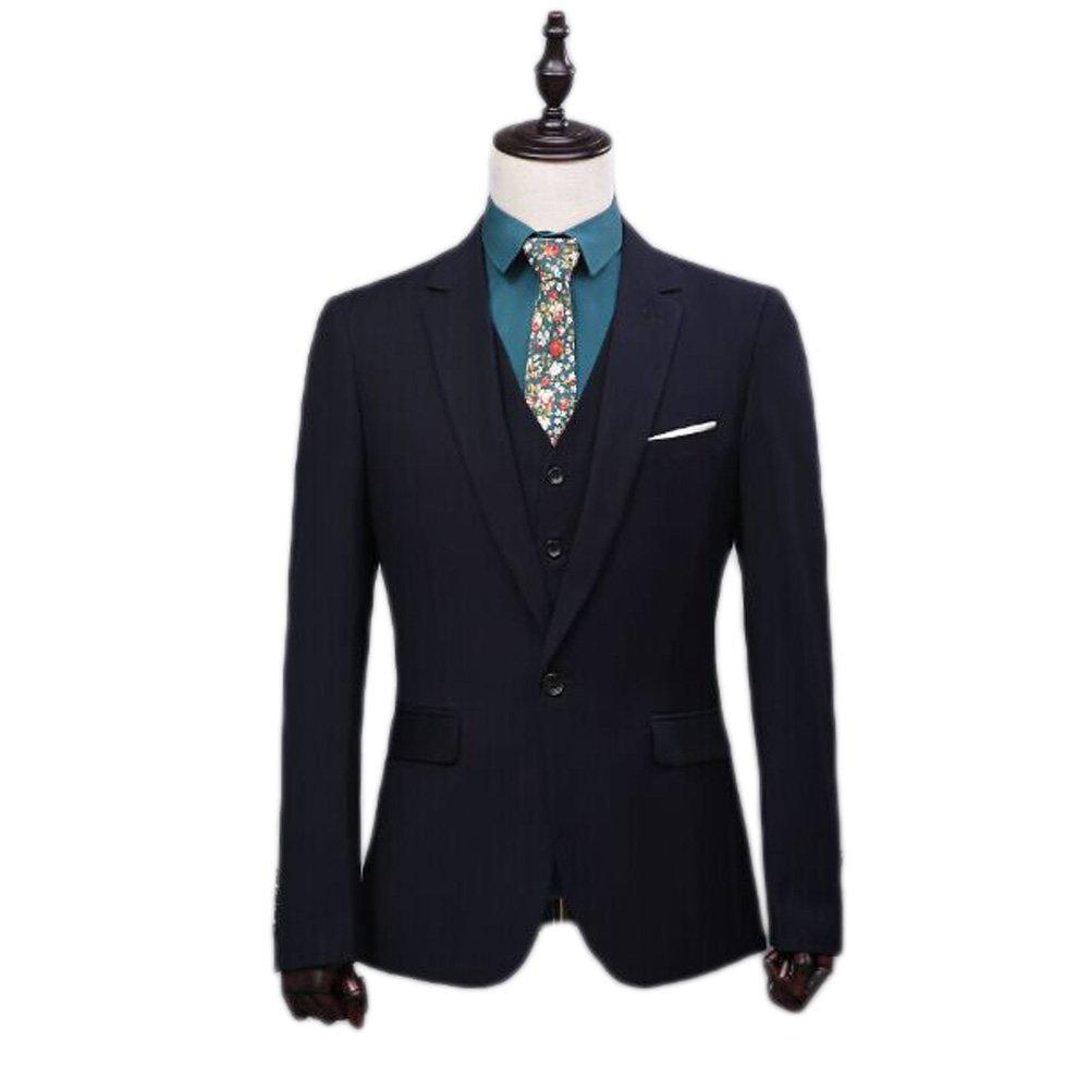 Love Dress Men's Suit 3-Piece Groom Dress Flat Front Pants 5XL