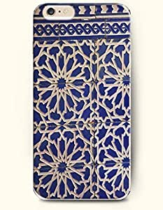SevenArc Apple iPhone 6 Plus 5.5' 5.5 Inches Case Moroccan Pattern ( Blue Moroccan Mosaic Design ) by icecream design