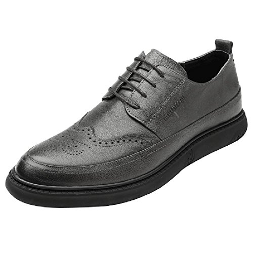 SYYAN Men 's Brock Carved Scrub Breathable Handmade Oxford Shoes Casual SL77313