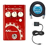 TC Helicon Mic Mechanic 2 Vocal Effects Processor -INCLUDES- Blucoil Power Supply Slim AC/DC Adapter 9V DC 670mA with US Plug AND Blucoil Audio 20' Balanced XLR Cable