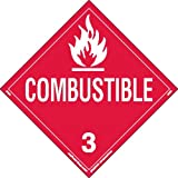 Labelmaster Z-PSR9 Combustible Liquid Hazmat Placard, Worded, Removable Vinyl (Pack of 25)
