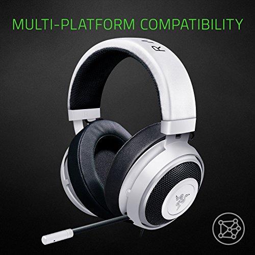 fe9c10adb6e Razer Kraken 7.1 V2: 7.1 Surround Sound - Retractable Noise-Cancelling Mic  - Lightweight Aluminum Frame - Gaming Headset Works with PC & PS4 - Mercury