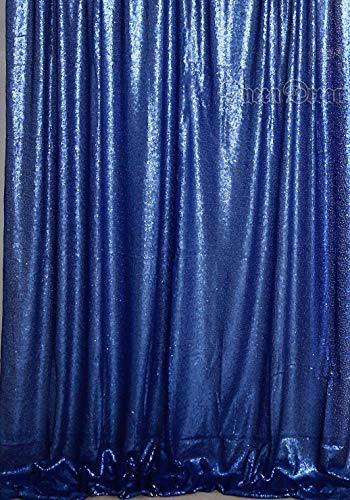 QueenDream Shimmer 4ftx6.5ft Navy Sequin Backdrop Sequin Background for Baby Photo Booth Backdrop from QueenDream