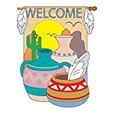 Two Group – South West Country & Primitive – Everyday Southwest Applique Decorative Vertical House Flag 28″ x 44″ Review