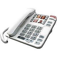 Phone Cord, Rca 1123-1wtga Landline Home Office Desk Corded Phone Speaker, White