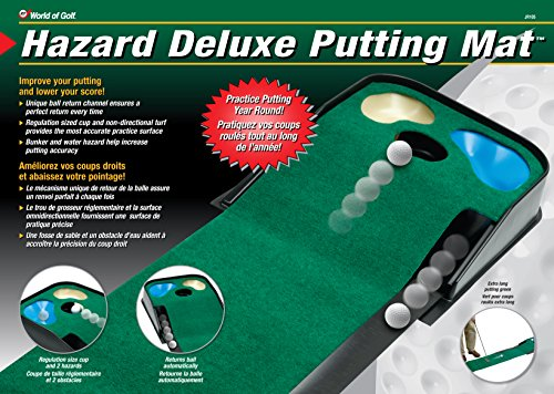 Review JEF World Of Golf Hazard Deluxe Putting Mat