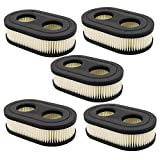HIFROM Pack of 5 Oval Air Filter Cartridge for MTD Yard Machines Murray Craftsman Troy-Bilt TB110 TB115 TB200 TB230 TB330 TB370 Walk-Behind Lawn Mower