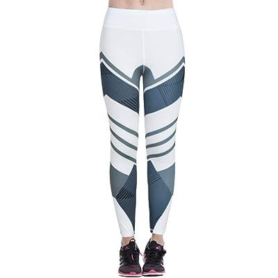 3 4 Leggings De Yoga De Damas Leggings Fitness Estampado Modernas Casual Con Estampado Leggings Cintura Media Estiramiento Pantalones Deportivos Medias Pantalones Pitillo Pantalones De Chándal: Ropa y accesorios