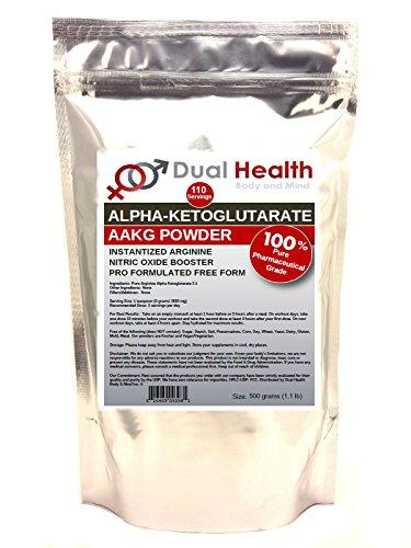 Cheap Pure AAKG (500 grams (1.1 lb)) L-Arginine Alpha-Ketoglutarate Powder Bulk Supplements