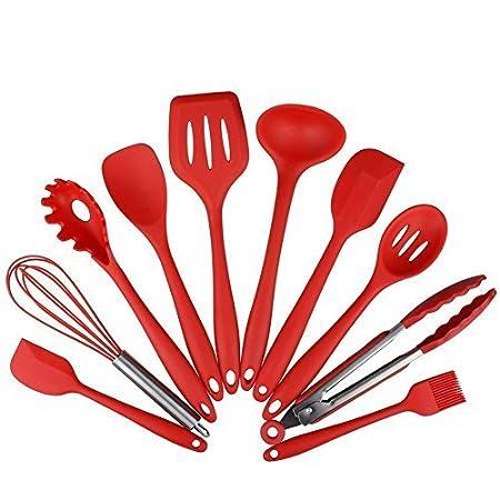 Compra Set de utensilios de cocina de silicona de 10 piezas ...