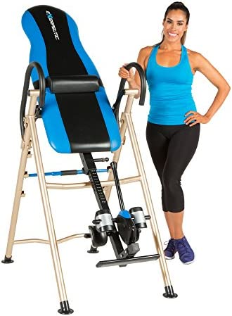 EXERPEUTIC 175SL Inversion Table with SURELOCK Safety Ankle Ratchet System and Lumbar Support