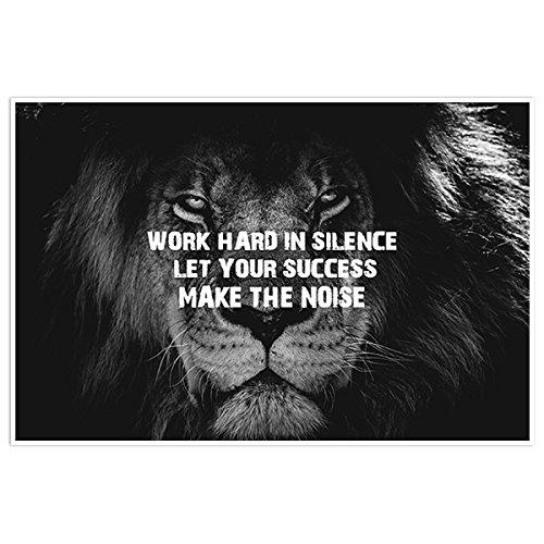 Work Hard In Silence Lion Photography Wall Art