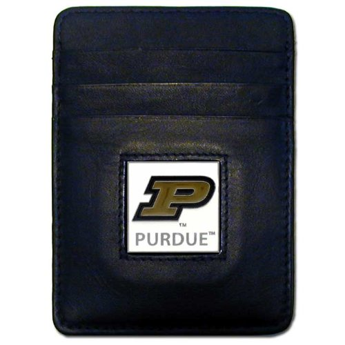 NCAA Purdue Boilermakers Leather Money Clip/Cardholder Wallet ()