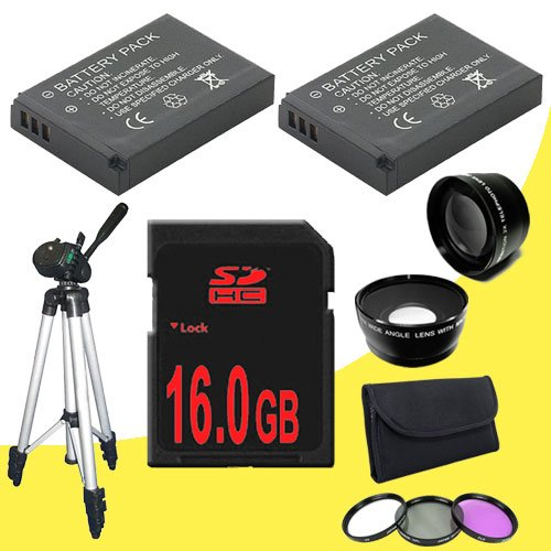 D40 Zoom Battery (TWO EN-EL9 Lithium Ion Replacement Battery + 16GB SDHC Class 10 Memory Card + 52mm 3 Piece Filter Kit + Wide Angle Lens + 2x Telephoto Lens + Full Size Tripod Cloth for Nikon D3000 D5000 D40 D40x D60 D3x Digital SLR Cameras with use of the Nikon 18-55mm f/3.5-5.6G AF-S DX VR Nikkor Zoom Lens DavisMAX Bundle)